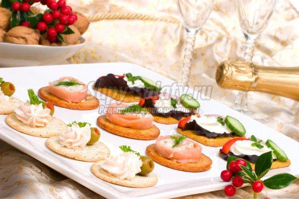 Рецепты холодных праздничных закусок на Новый год