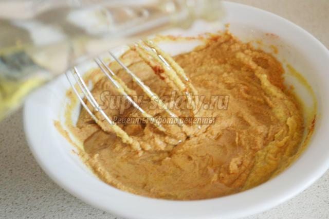 домашняя горчица с куркумой и паприкой