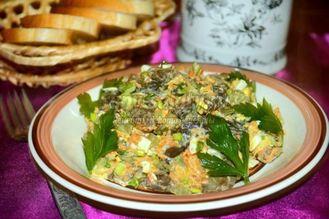 Салат грибной с огурцами картинки