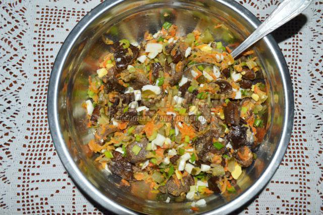 Салат грибной с огурцами рекомендации