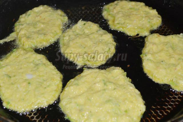 Вкусные оладьи из кабачков с манкой рецепт с пошагово