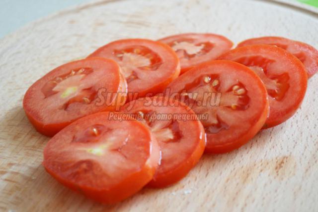 башенки из баклажанов с помидорами под сыром