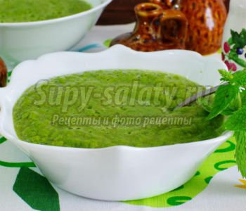 суп Гаспачо из шпината и огурцов
