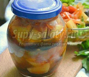 рагу из баклажанов и картофеля на зиму