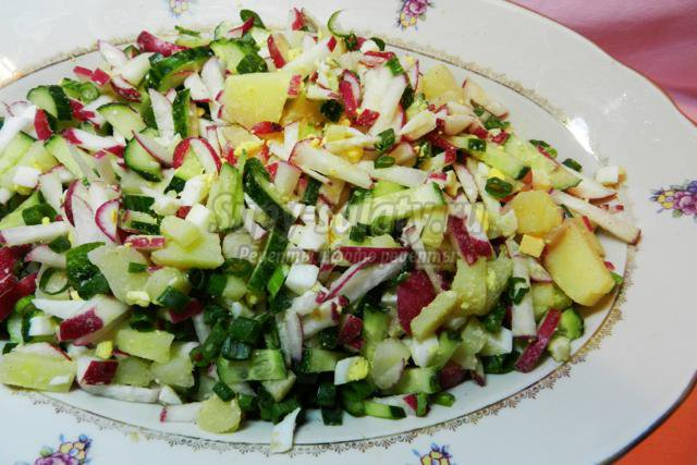 окрошка овощная на квасе