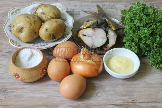 салат из копченой скумбрии и картофеля