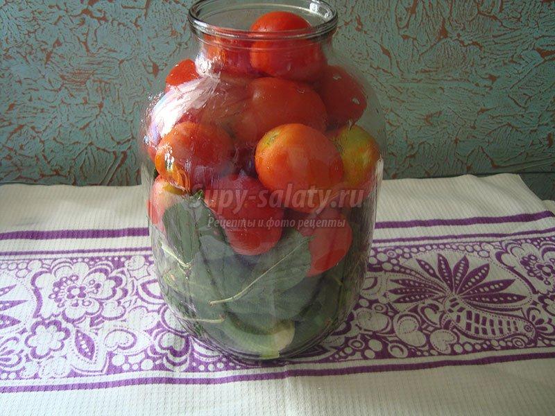 рецепт ассорти огурцы и помидоры