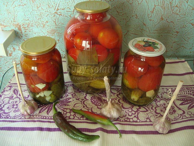 ассорти огурцы с помидорами на зиму рецепты