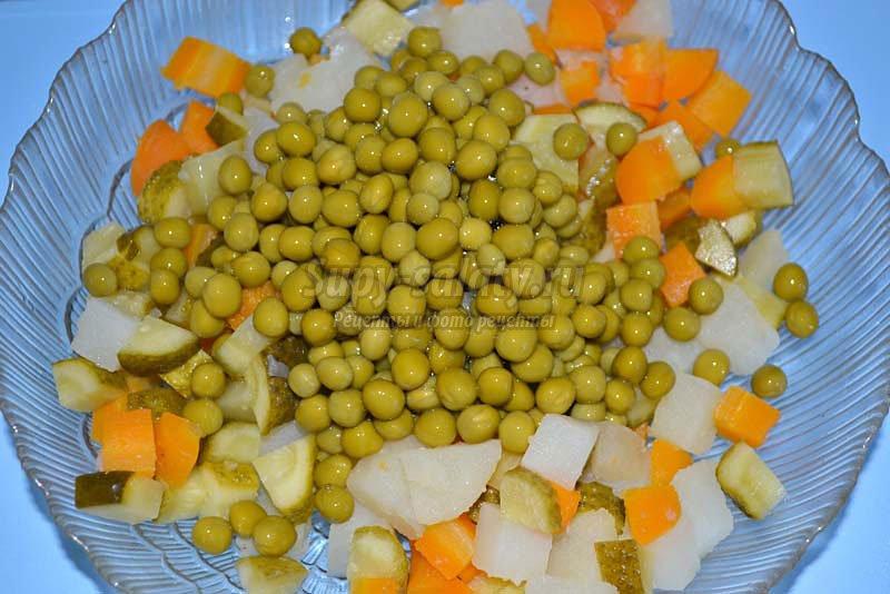 вегетарианские салаты оливье
