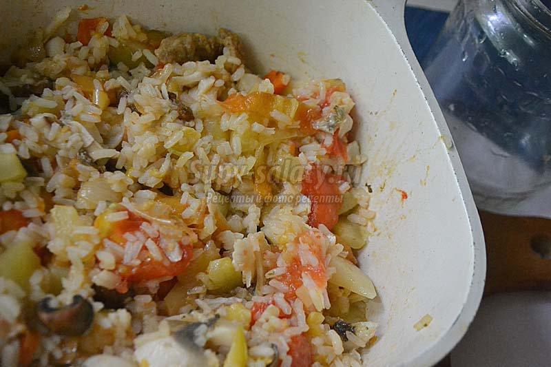 судак тушеный с овощами