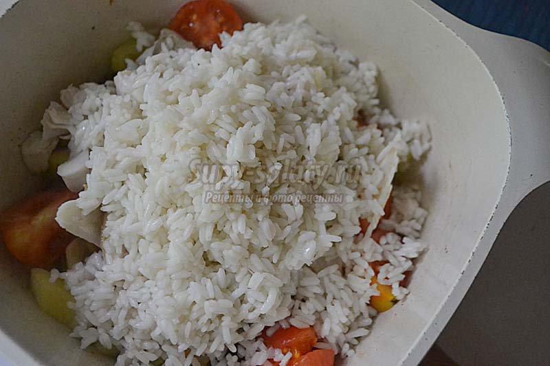 судак с овощами рецепт