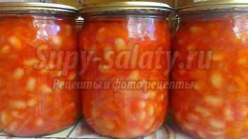 рецепт консеривированной фасоли