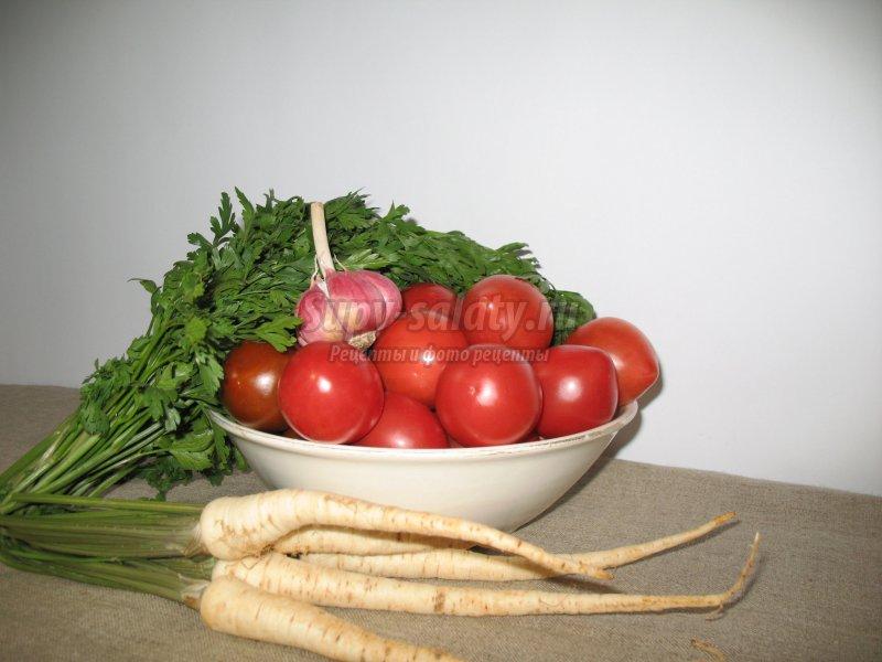 маринованные помидоры с петрушкой