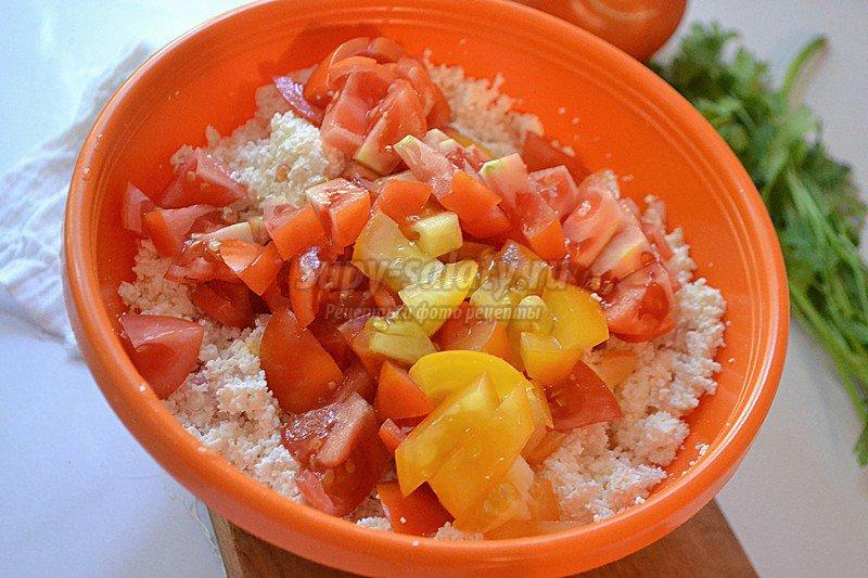 рецепт закуски из творога и томатов