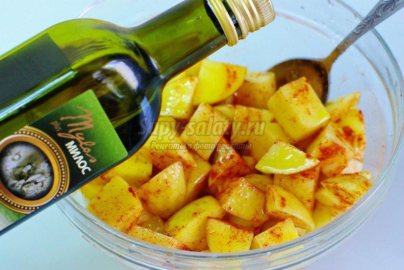 рецепт картошки с паприкой и сыром