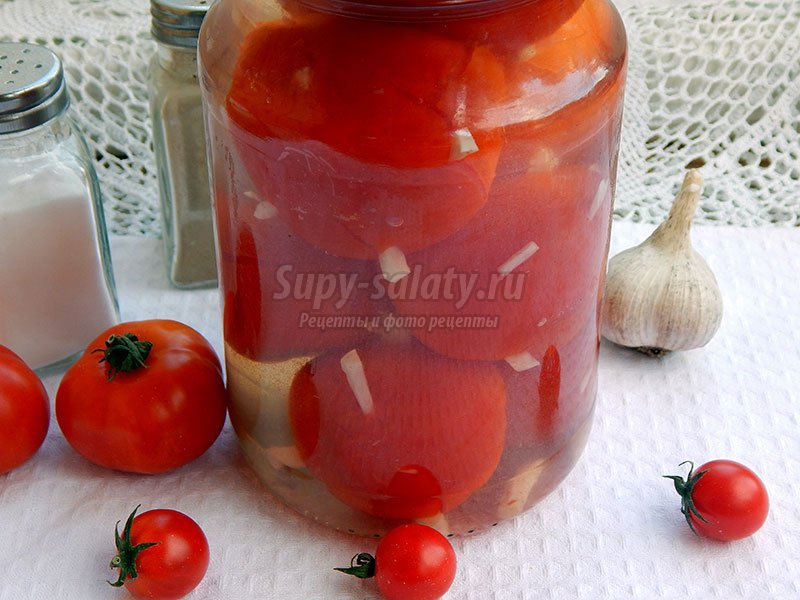 помидоры ежики с чесноком на зиму