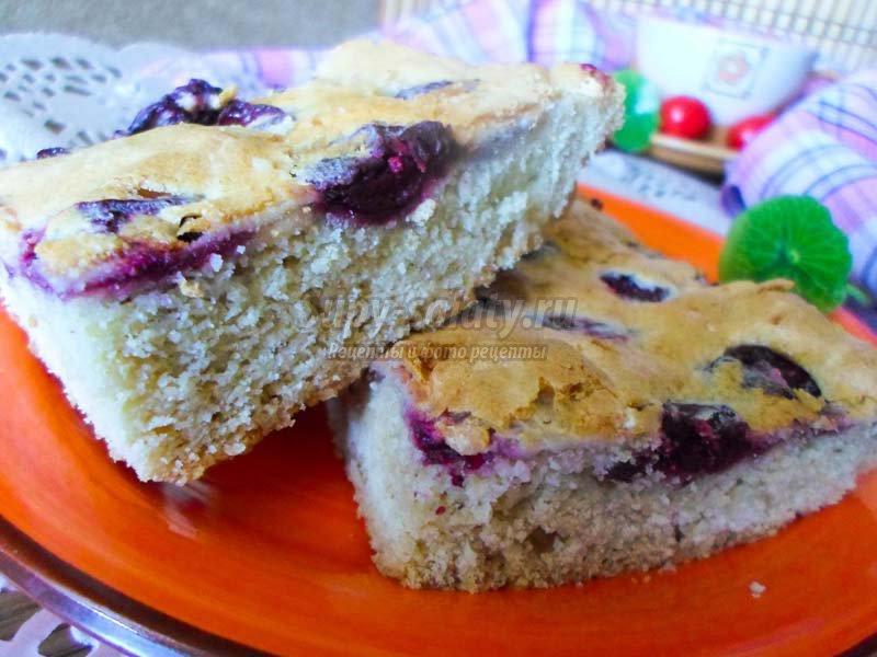 Пирог с вишней  рецепт с фото и видео