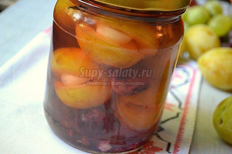 рецепт пряных слив и винограда