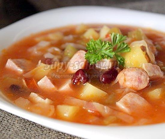 постный суп из томатного сока рецепт