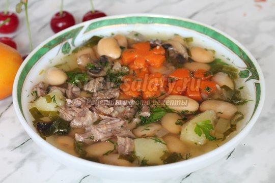 Суп с фасолью: пошаговые рецепты с фото.
