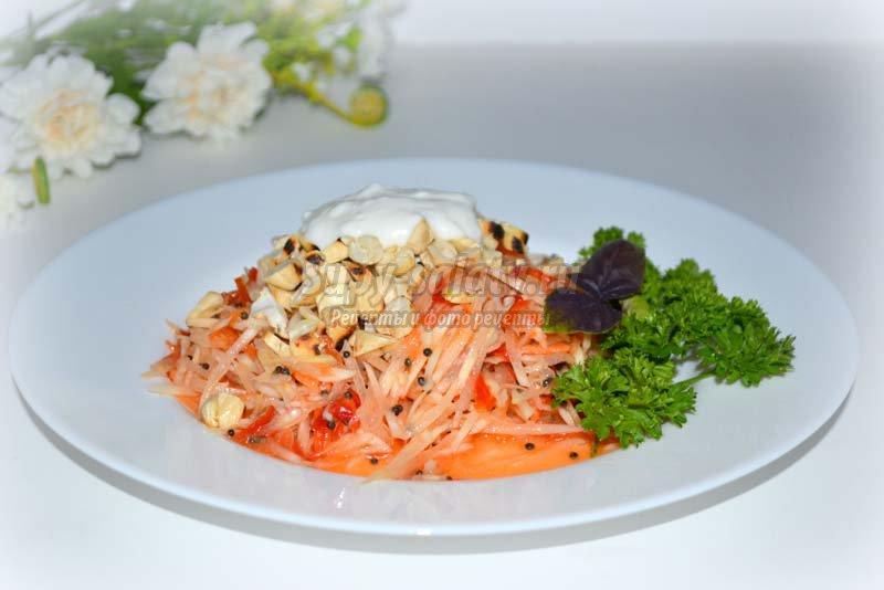 салат с морковью и орехами кешью