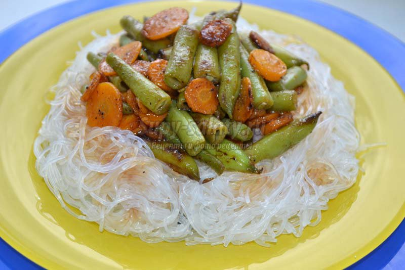 Рецепт овощного салата с фунчозой фото