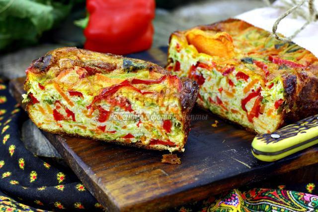 закусочный кекс с овощами