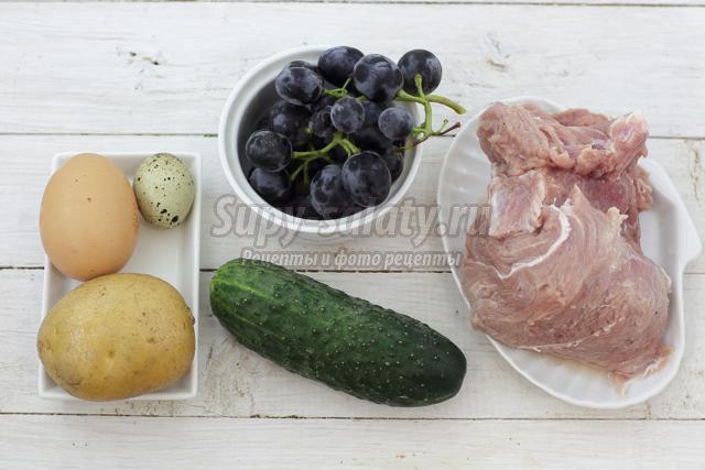 салат со свининой на Хэллоуин. Монстрик
