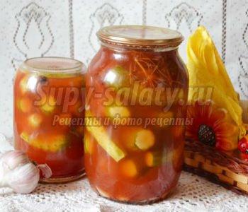 маринованные огурцы в томатной пасте на зиму