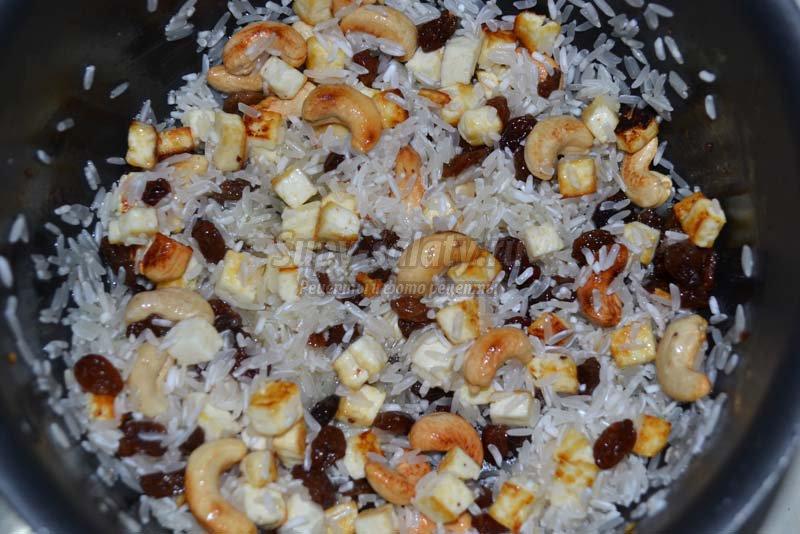 рис с изюмом рецепт