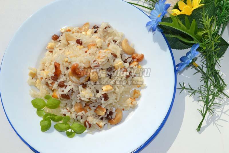 сладкий рис с изюмом