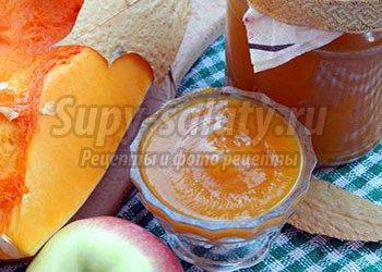 тыквенно яблочное пюре