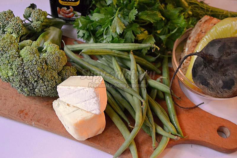 салат со стручковый фасолью