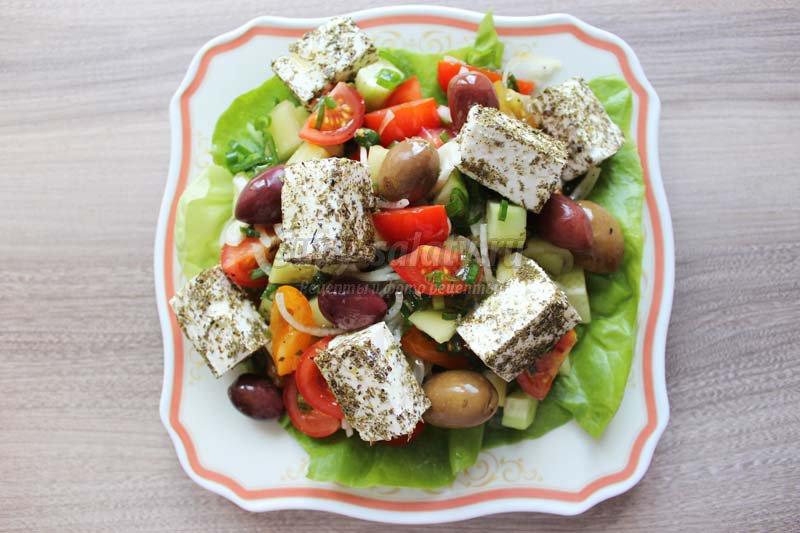 Технология приготовления салат греческий