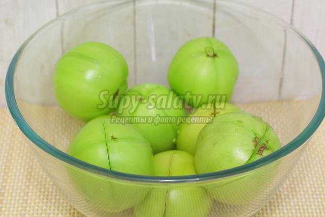 Квашеные зеленые помидоры пошаговый рецепт с картинками