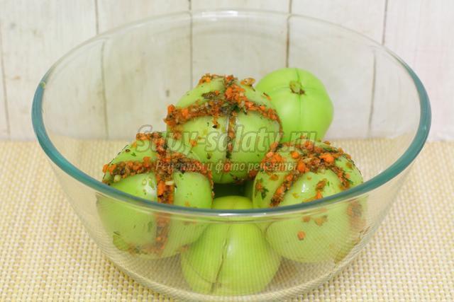 квашеные зелёные помидоры