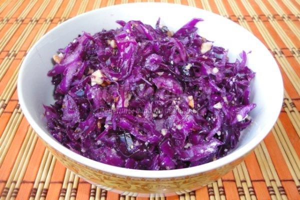 Рецепты салаты из краснокочанной капусты