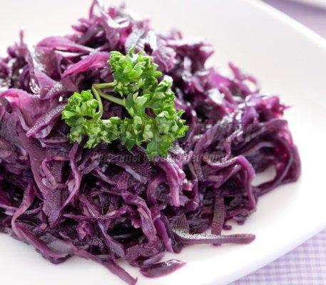 Салат из краснокочанной капусты - витминно и вкусно