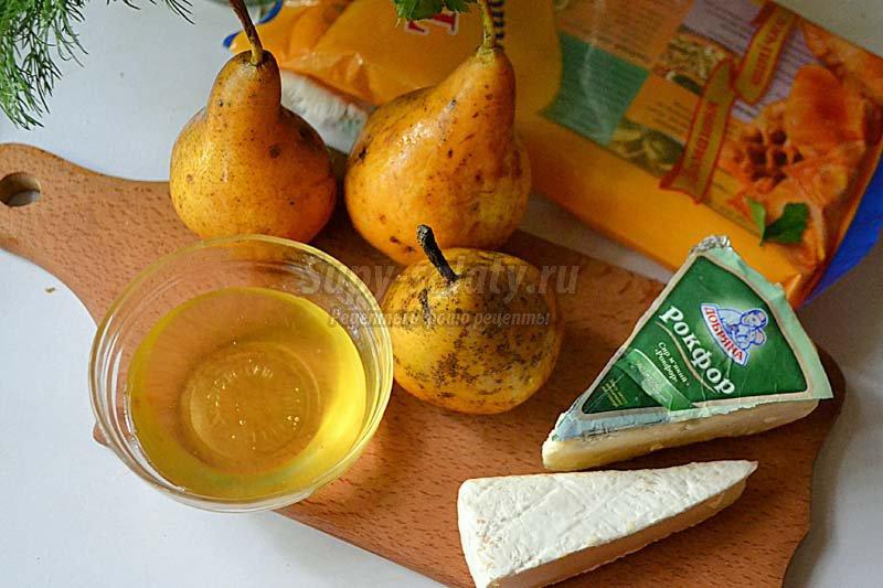 слоеные треугольники с сыром
