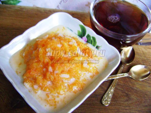 тыквенная каша с рисом
