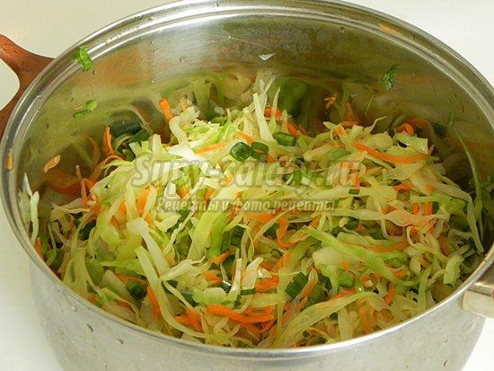 уксусом с Салат капусты из