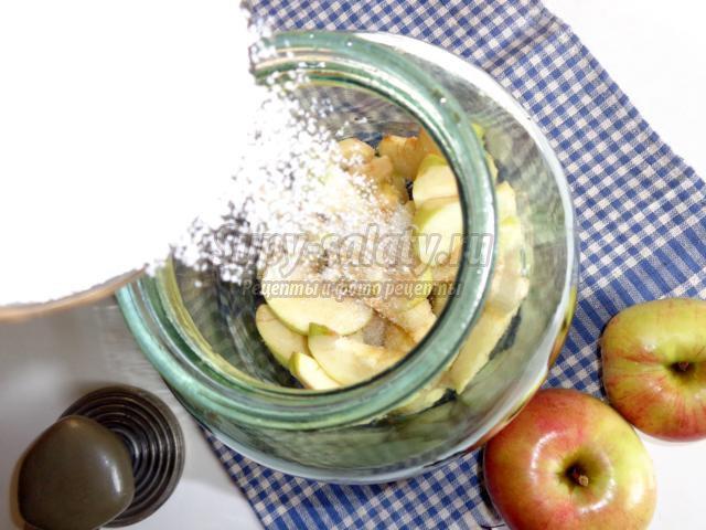 компот из черноплодной рябины и яблок на зиму