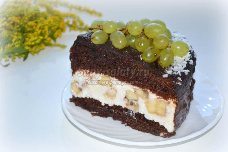шоколадный торт без яиц рецепт с фото
