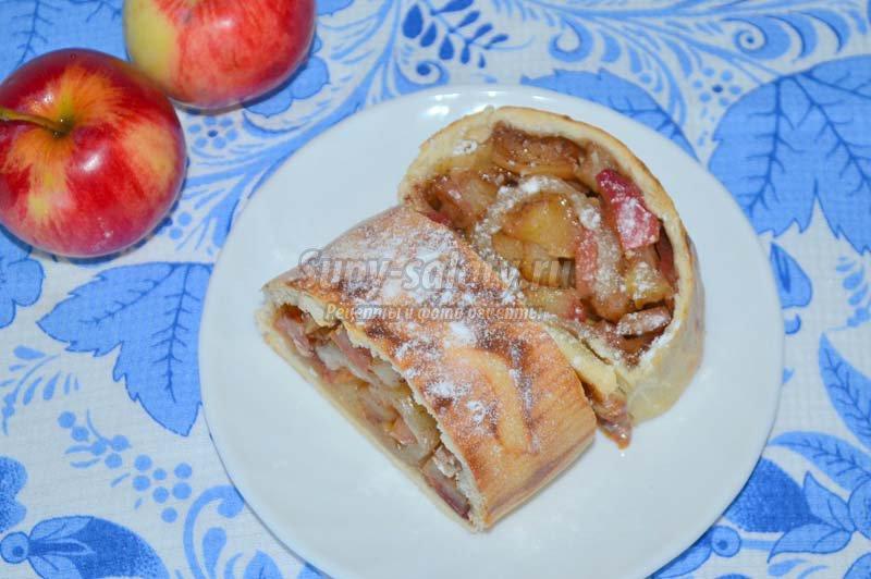рулет с яблочной начинкой
