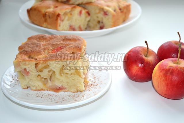 Рецепт шарлотки с яблоками без яиц с фото
