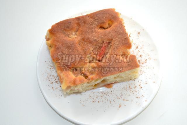 вегетарианская яблочная шарлотка без яиц