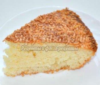 вегетарианский манный пирог с имбирем