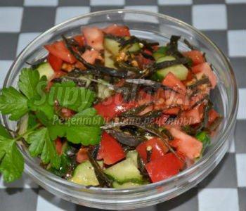 вегетарианский салат с сухой морской капустой
