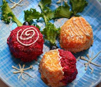 салат из тыквы и свеклы к Новому году