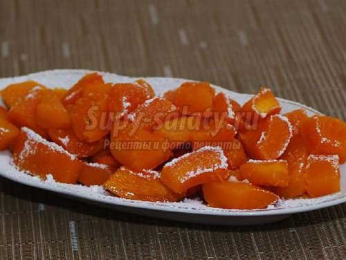 Цукаты из тыквы. Варианты приготовления сладостей